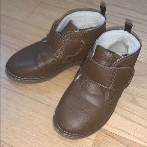 Toddler Boys Old Navy Brown Dress Boots Shoes Sz 9